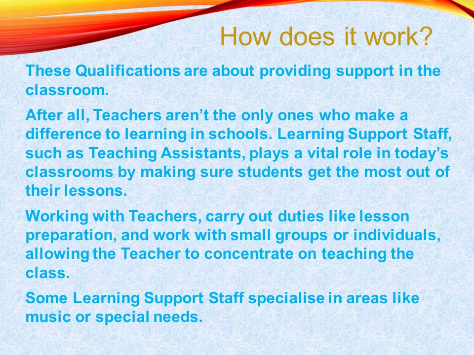 Supporting Teaching And Learning In Schools Level 2 Award In