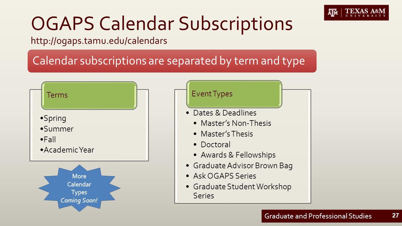 tamu thesis deadlines