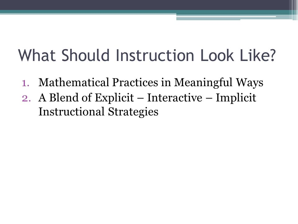 Mathematics Instruction In The Age Of Common Core State Standards