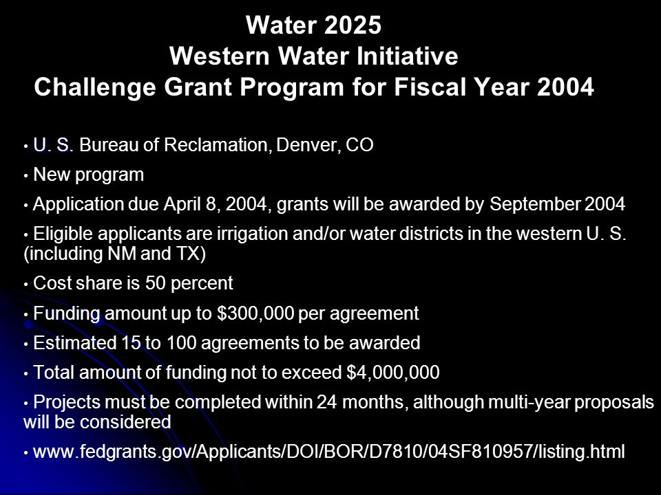 Request for Proposals from the Department of the Interior