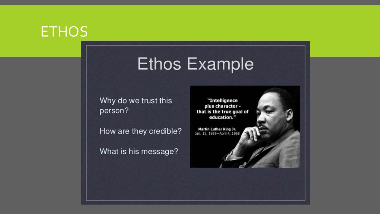 ethos definition literature examples