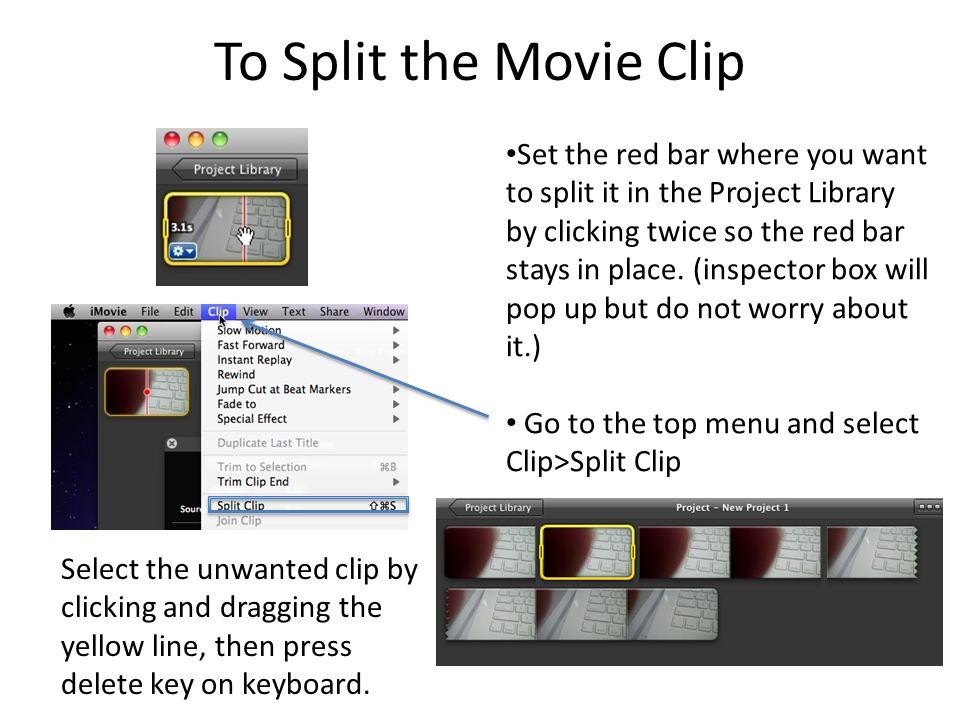 IMovie Editing  Record The Flip Video – Then, launch iMove11