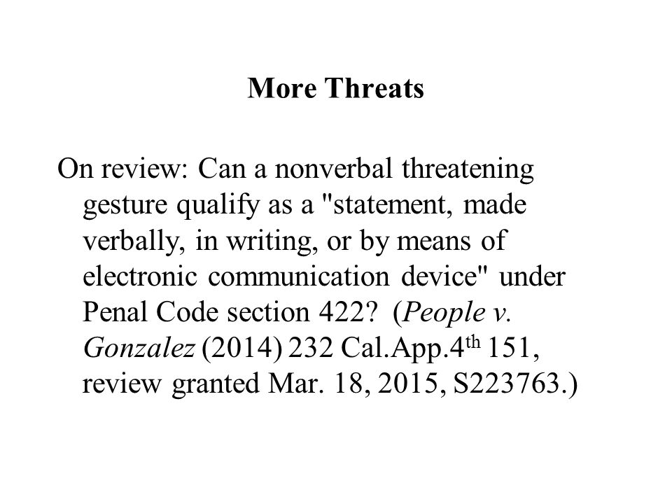 penal code section 422