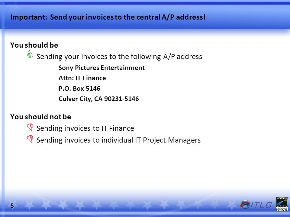 Sony Pictures Entertainment SPE IT Finance Payment of SPE IT