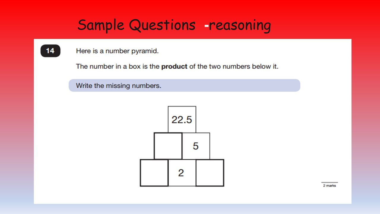 Sample Questions -reasoning