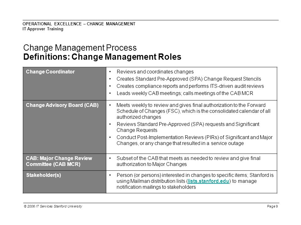 Awesome Change Advisory Board Template Composition - Examples ...