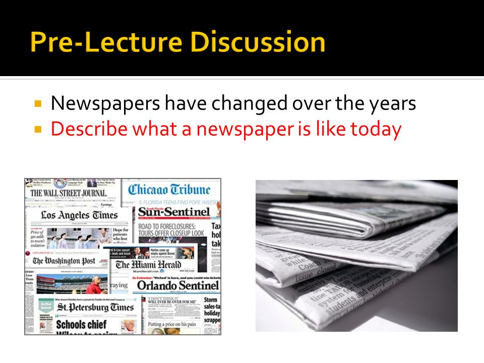 how have newspapers changed over time