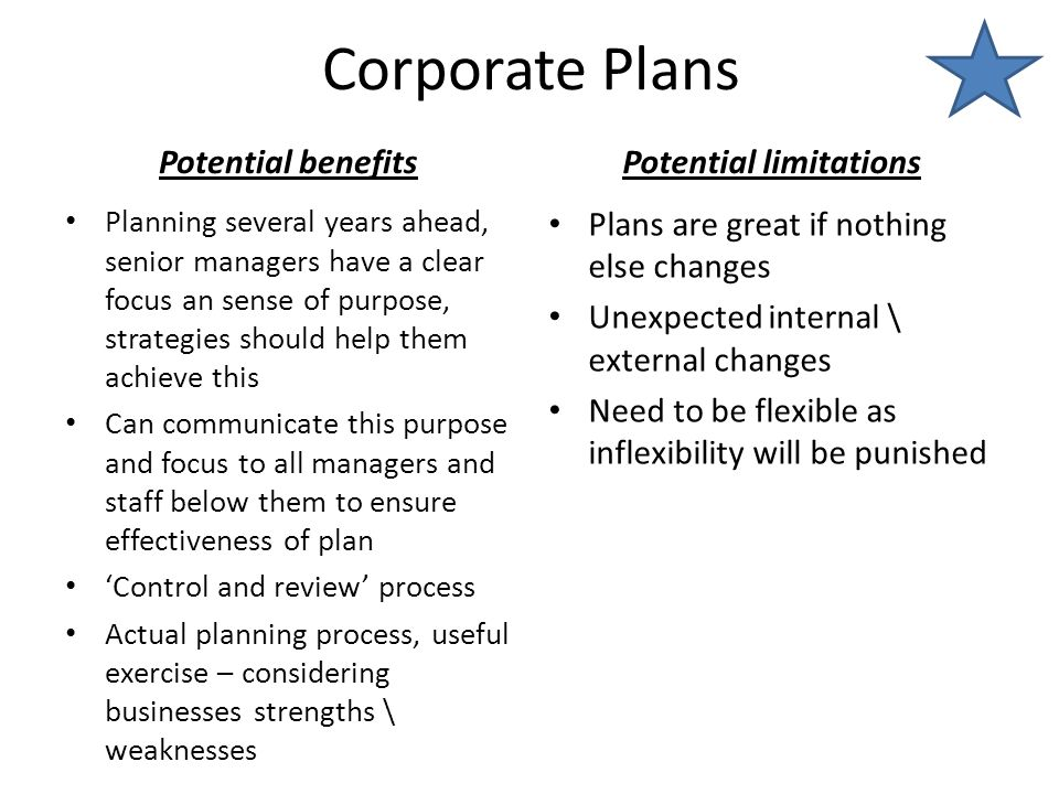 benefits and limitations of strategic management pdf