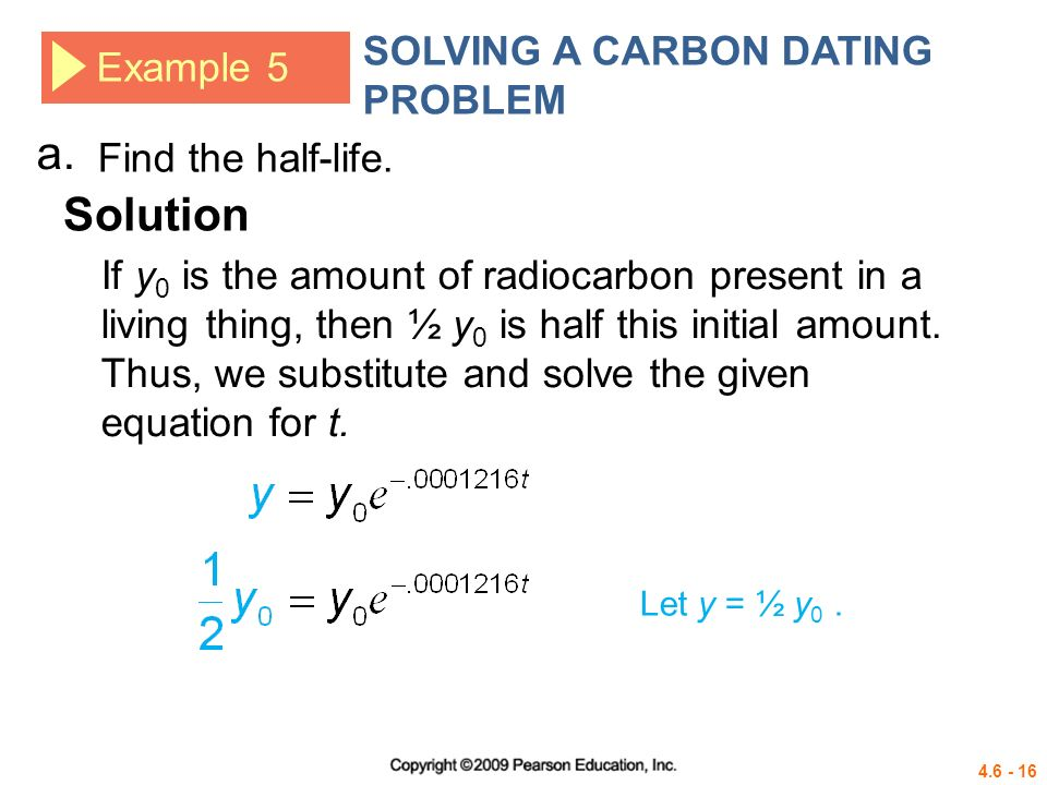 Half life carbon dating sample