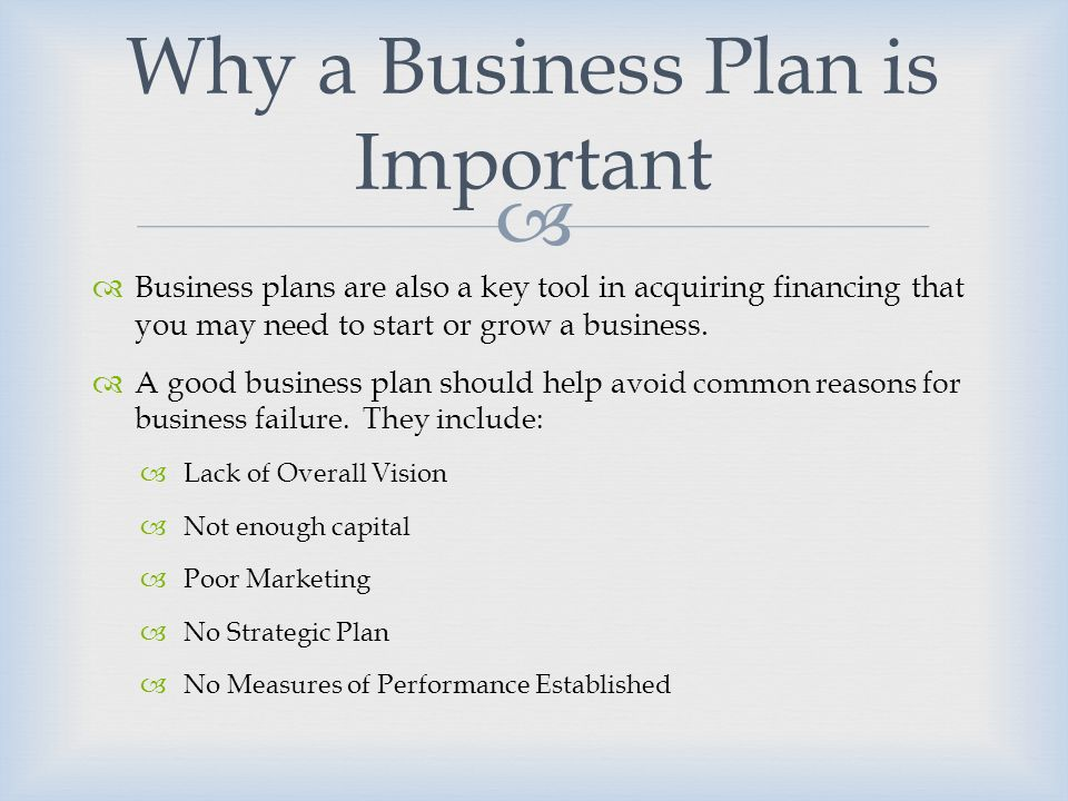 discuss the importance of business planning in entrepreneurship