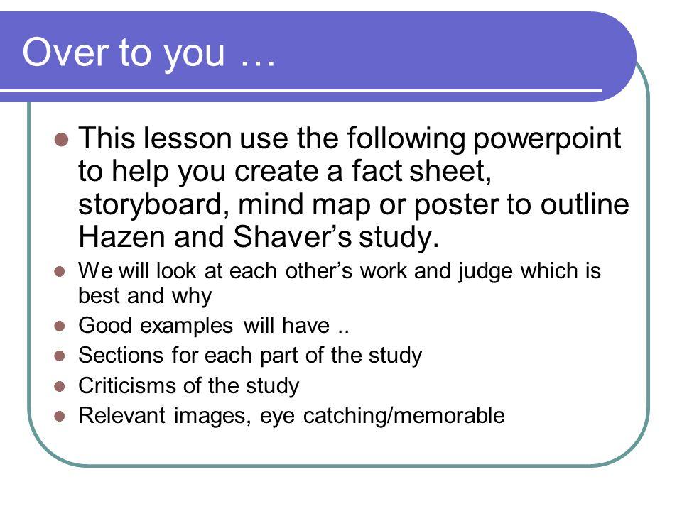 "Core Study – The Love Quiz Hazen and Shaver (1987) ""Romantic"