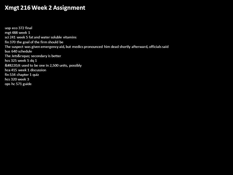eco 372 week 5 final