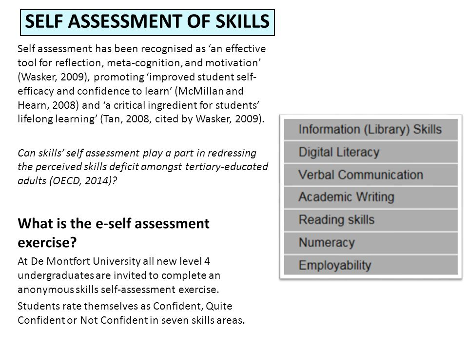 Self assessment of skills: a lifelong process Di Turgoose and Marian