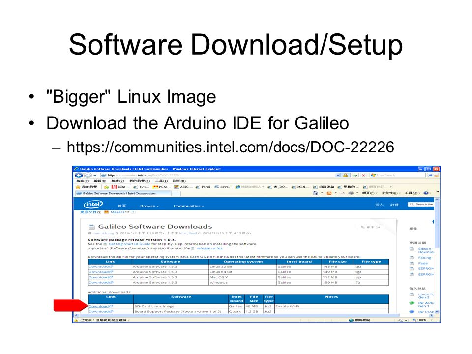 Python for intel Galileo GEN2 TYWu  Software Download/Setup