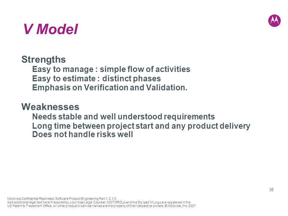 motorola strengths and weaknesses