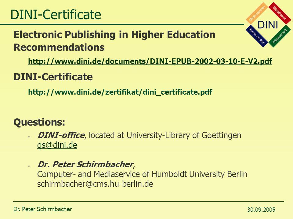 Humboldt-Universität zu Berlin Certificate for ETD - Repositories 8 ...
