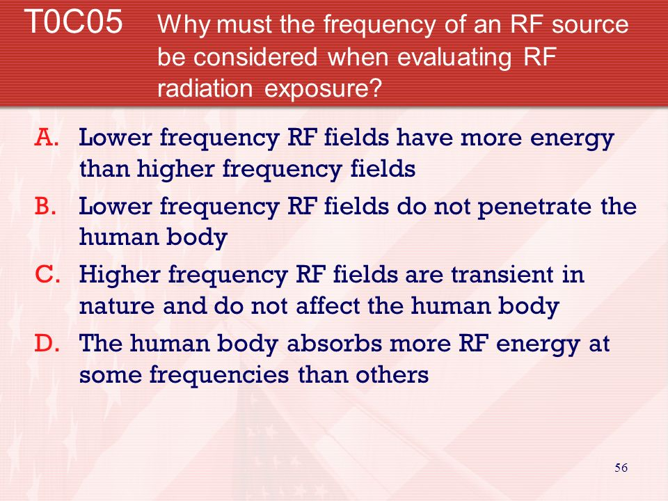 55 T0C04 What factors affect the RF exposure of people near an amateur transmitter.