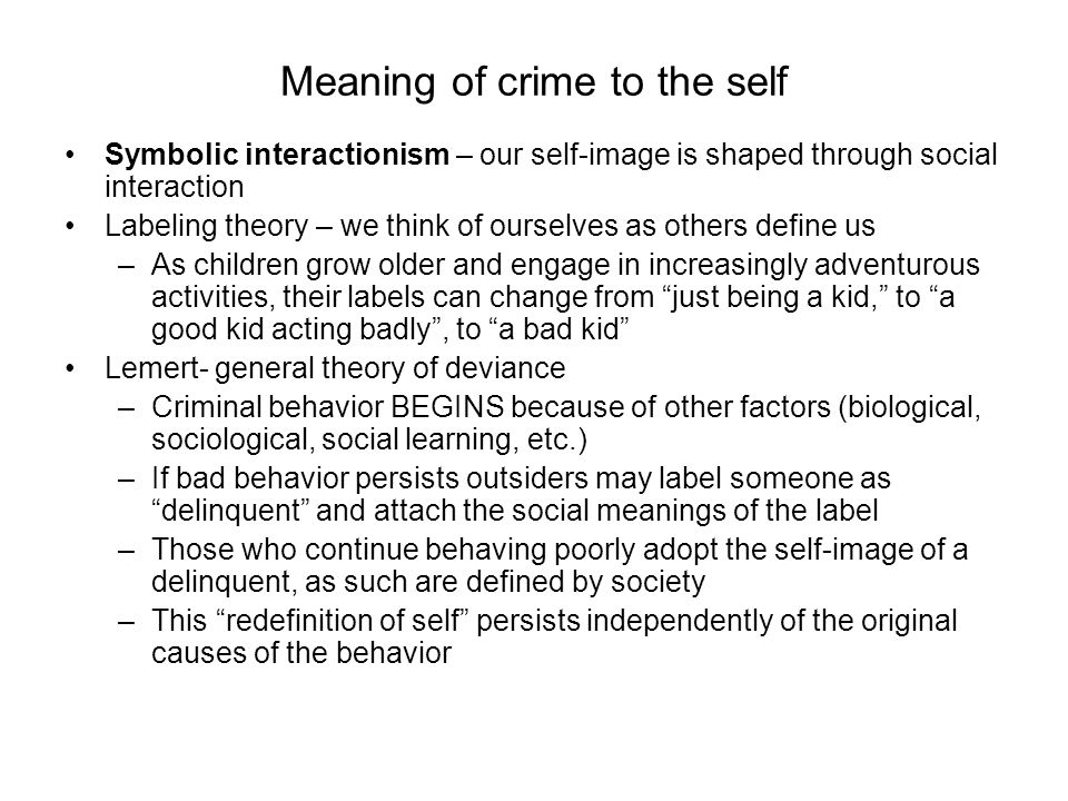 an analysis of the labeling theory and the classical theory of deviance The fundamental principle of the classical theory is that the economy is self‐regulating classical economists maintain that the economy is always capable of achieving the natural level of real gdp or output, which is the level of real gdp that is obtained when the economy's resources are fully.