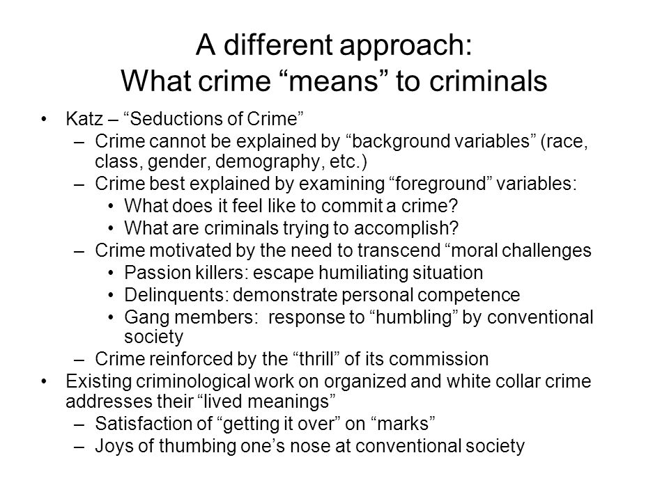 Labeling Theories Meaning Of Crime To The Self Symbolic