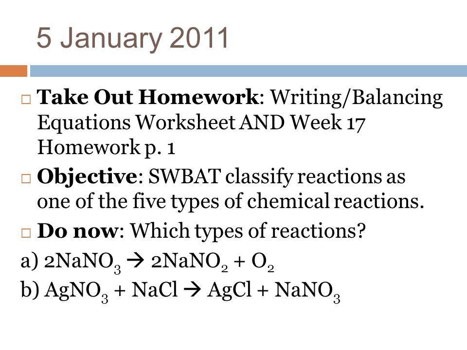 Five Types Of Chemical Reactions Worksheet Kidz Activities