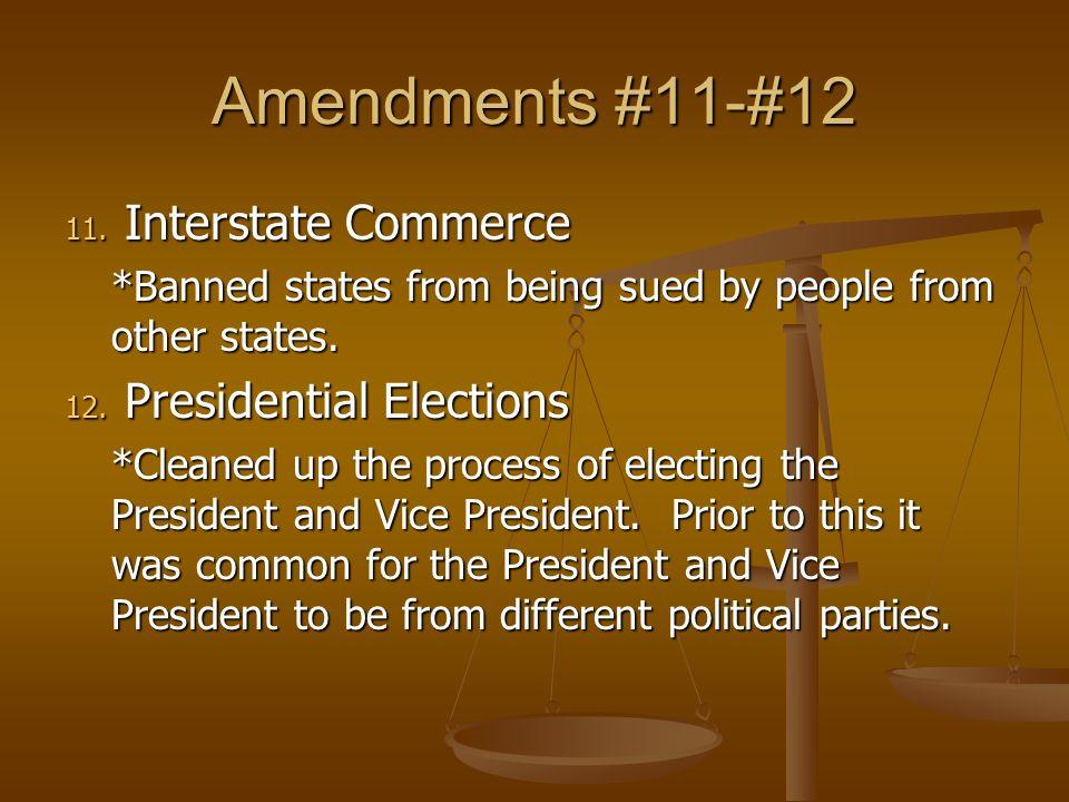 the amendments 11 27