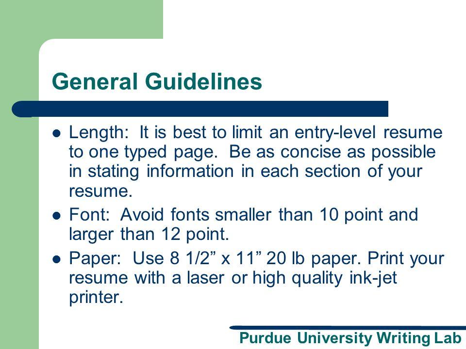 purdue university writing lab resume workshop a presentation brought