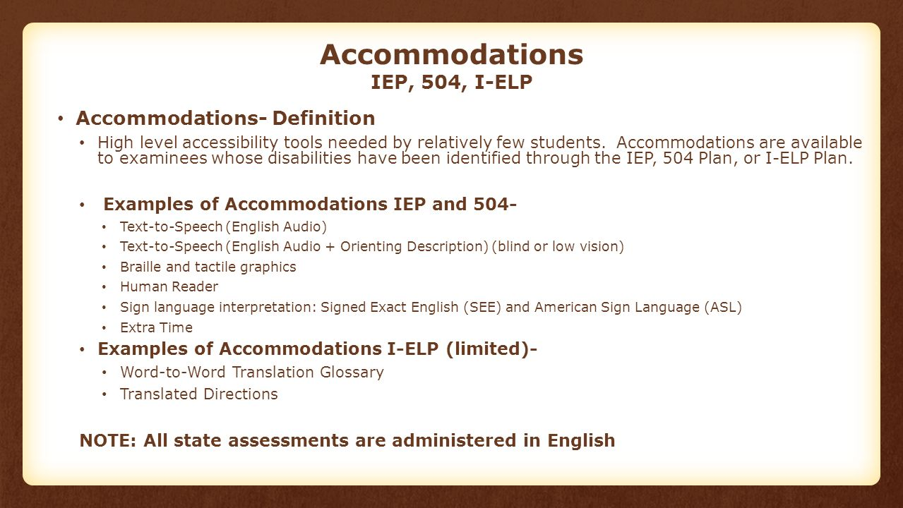 Iep Planning Accommodations And >> Accessibility And Accommodations Alabama Student Assessment Program