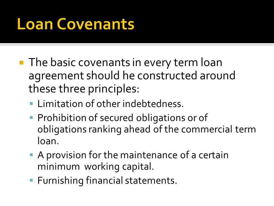 Post Restructuring Preamble Amount And Term Of The Loan