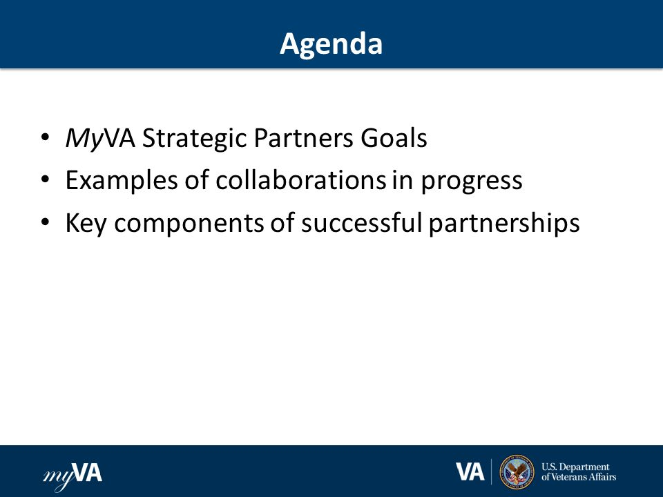 2 agenda myva strategic partners goals examples of collaborations in progress key components of successful partnerships