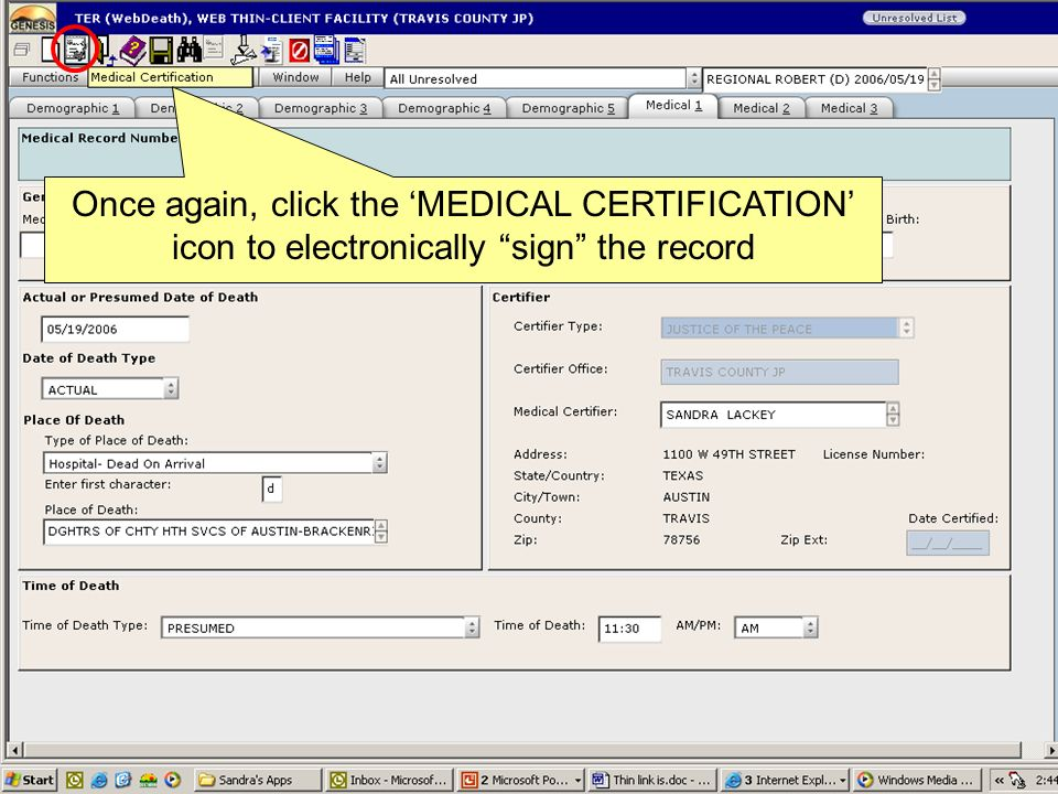 Electronic Death Registration Never Sign A Death Certificate Again
