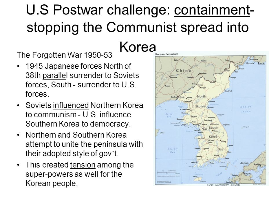 Us Postwar Challenge Containment Stopping The Communist Spread - 38th-parallel-us-map