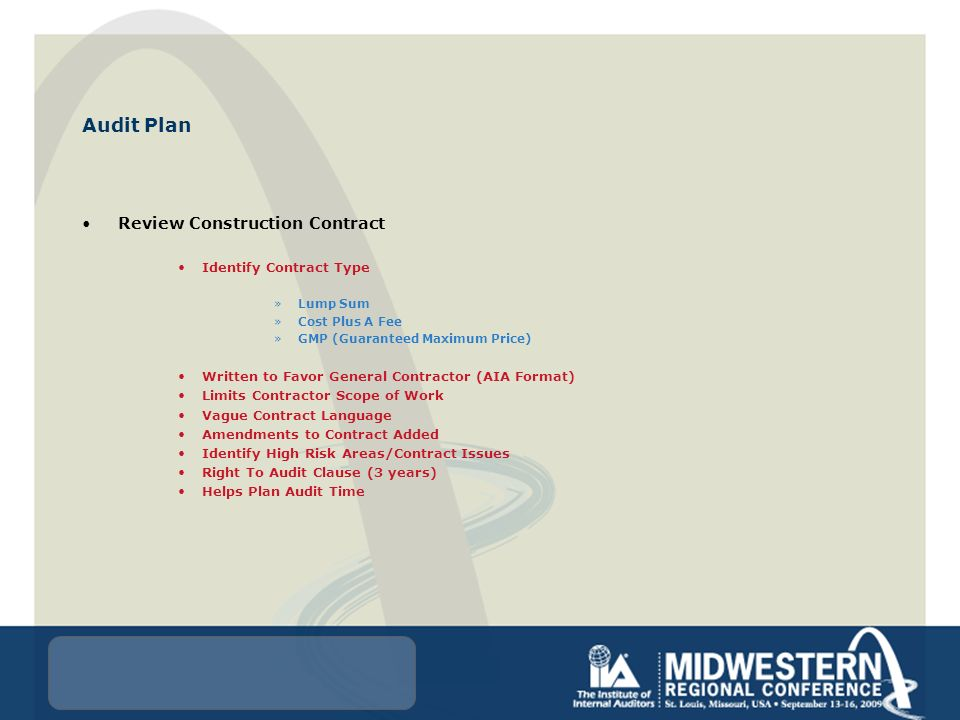Construction Auditing Tuesday, September 15, :00-5:15 pm Presented