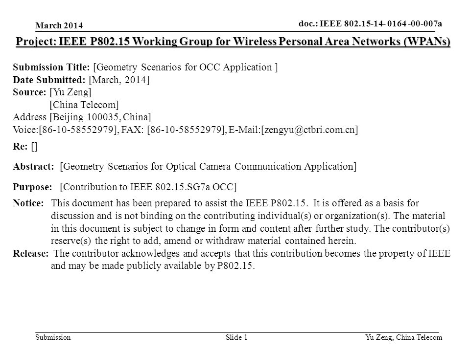 doc ieee xxxxx submission doc ieee wng0 slide 1 project ieee p