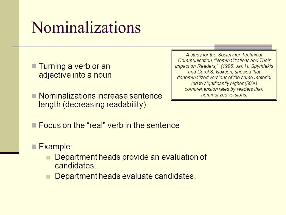 Nominalization Examples Image Collections Example Cover Letter For