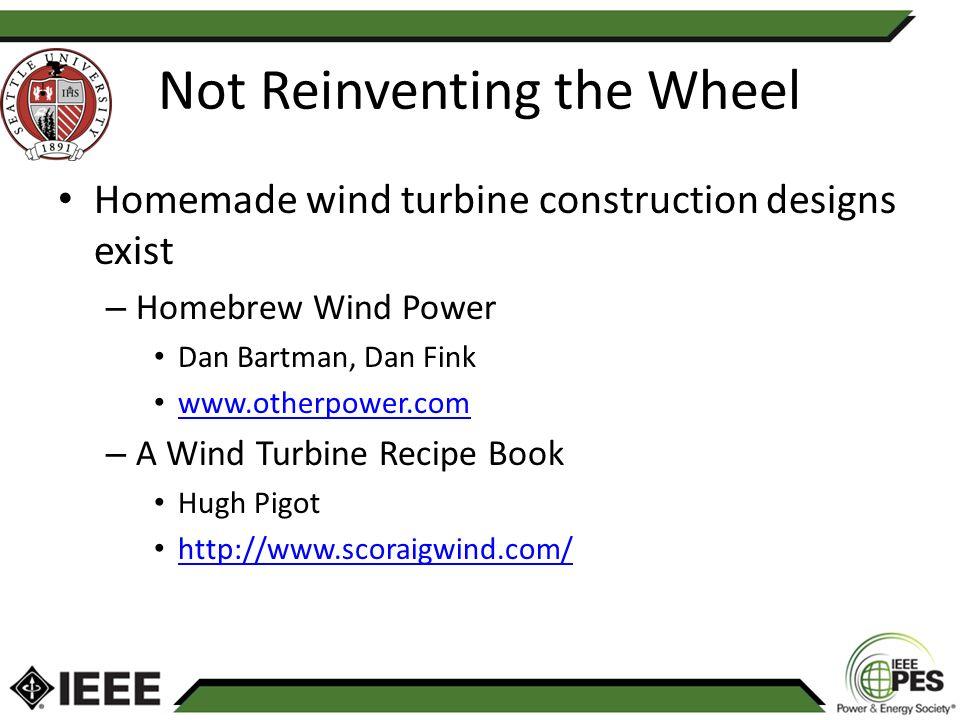 Turbine recipe book wind