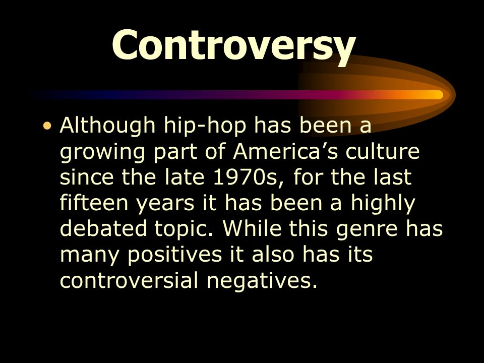 negative effects of hip hop