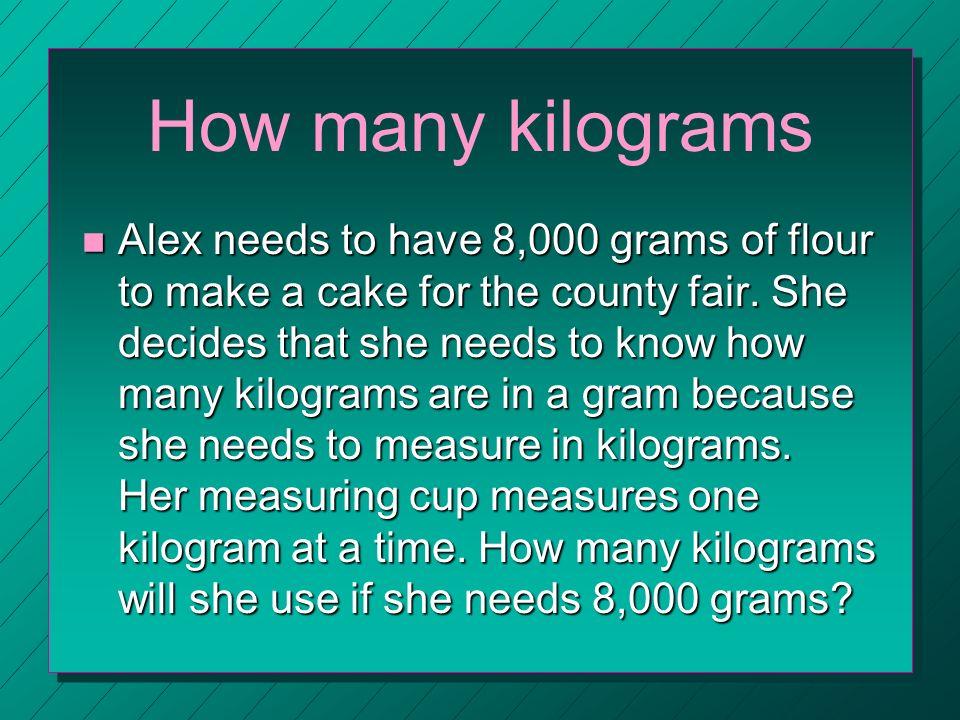 Kilograms Kilogram N A Unit Of M In The Metric System