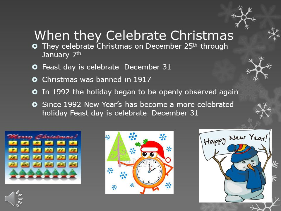 5 When are the holidays celebrated ...