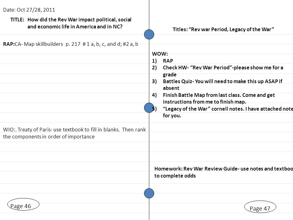 TITLE: Test and Quizzes Page 33 Date: Oct 7/11, 2011 Titles