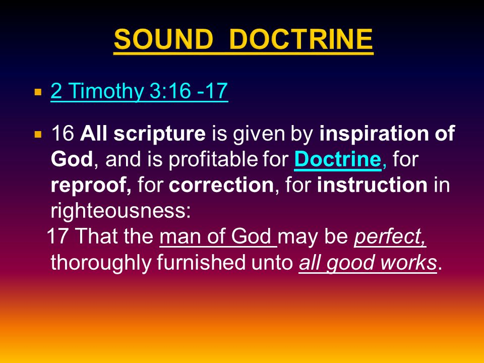 2 Timothy 3 16 All Scripture Is Given By Inspiration Of God And