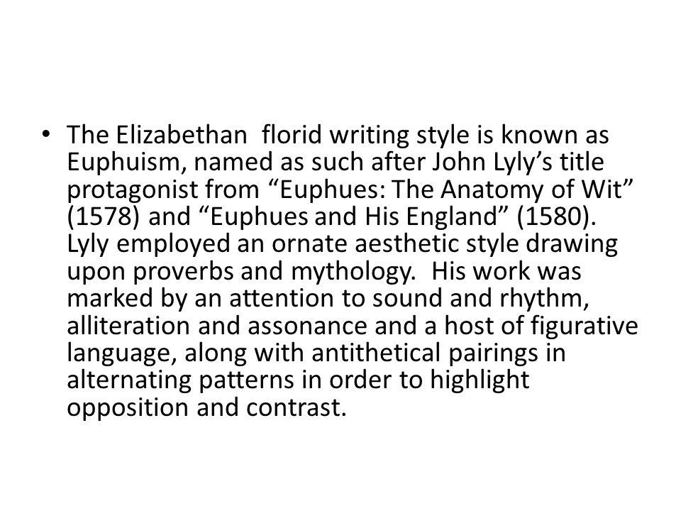 elizabethan writing style