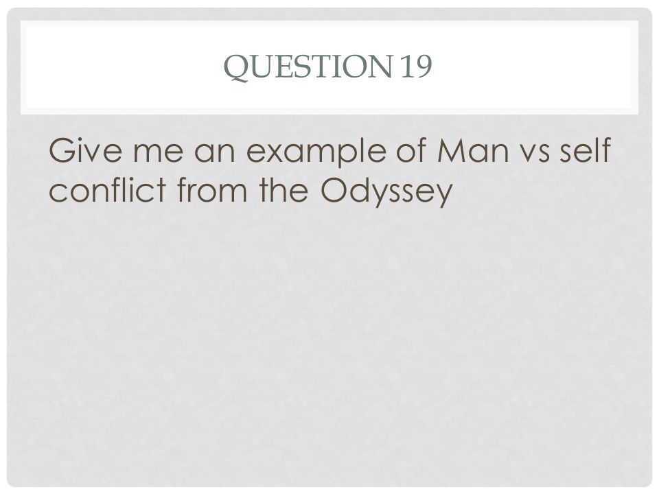 what is the main conflict in the odyssey