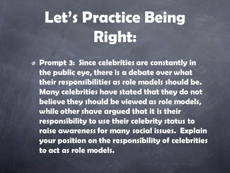 celebrities should not be role models debate