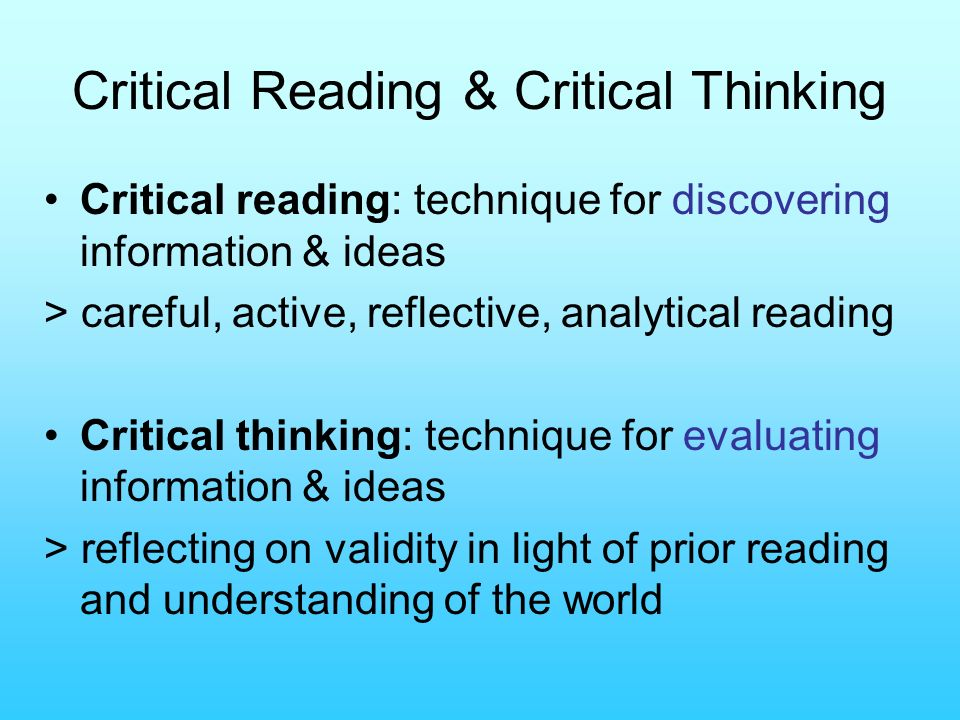 reflective essay on critical thinking As a matter of fact, students writing a reflective essay must keep in mind that the task aims to evaluate both writing skills and critical thinking that's important one may say that reflective essay topics play the second fiddle and be completely right about it.