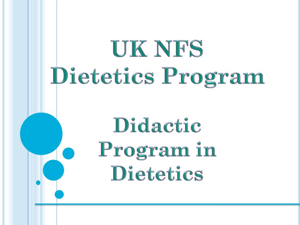 acend-accredited coursework requirements (didactic program in dietetics)