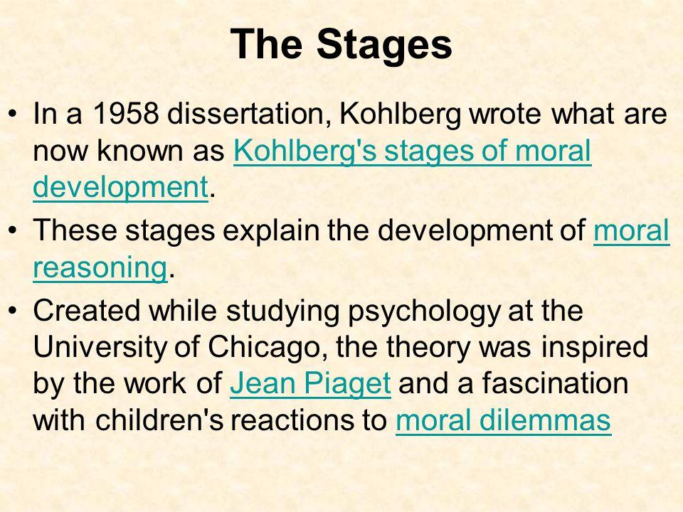 kohlberg 1958 dissertation
