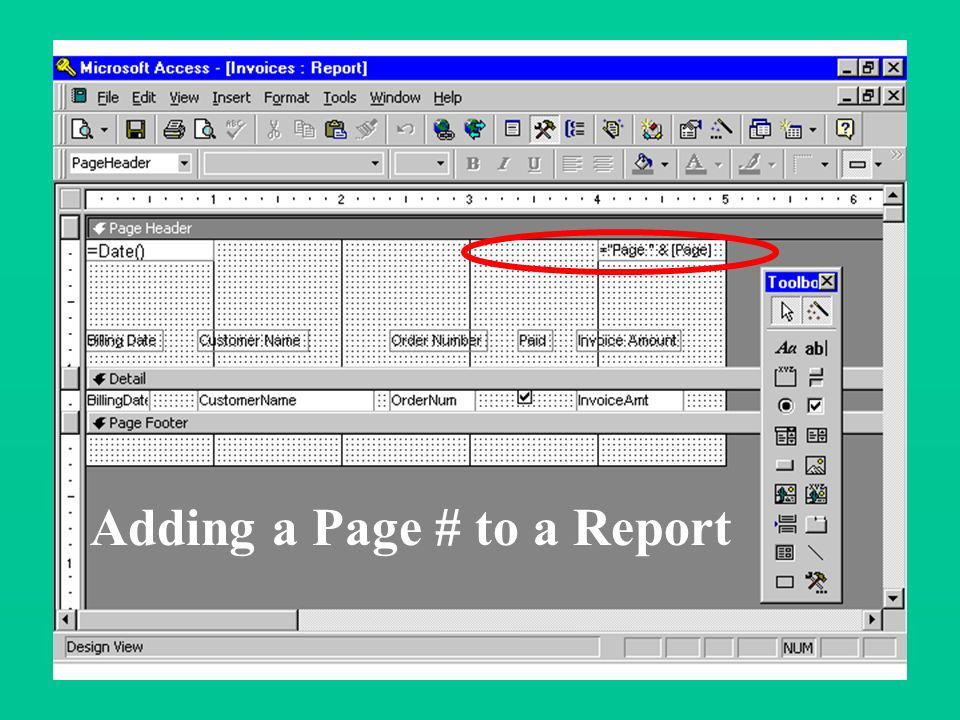 Customizing Reports Adding a Date to a Report Reference