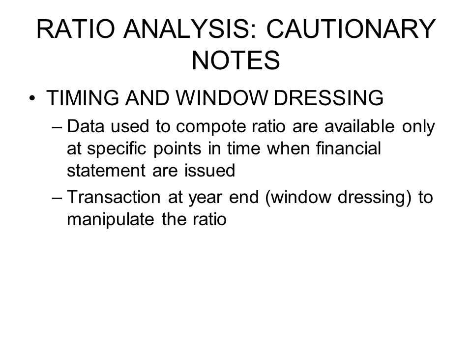 ratio analysis and types of ratios A ratio analysis is a quantitative analysis of information contained in a company's financial statements ratio analysis is used to evaluate various aspects of a company's operating and.