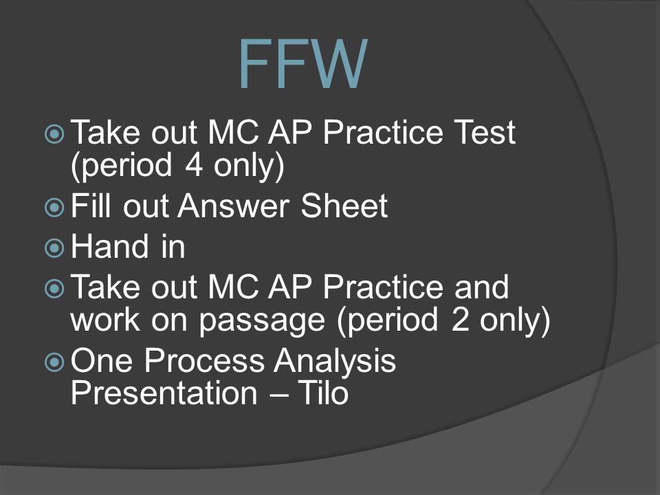 Goals 1  AP Multiple Choice Practice Test 2  Review MLK's