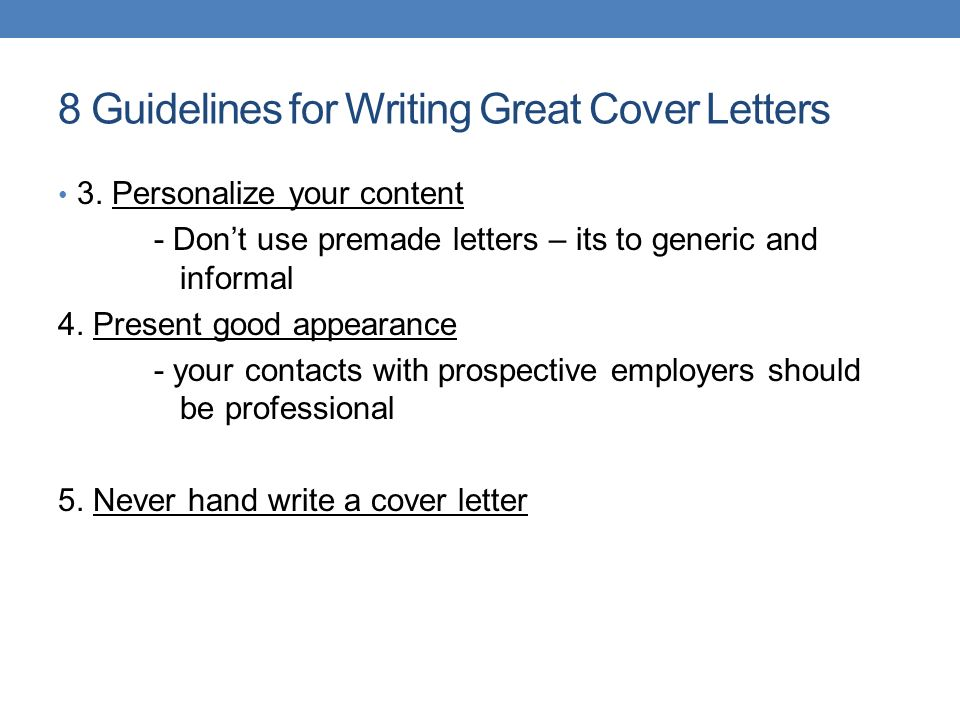 8 Guidelines For Writing Great Cover Letters 3